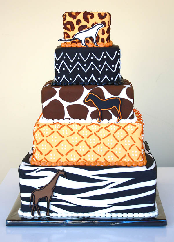 African Style Tower Cake