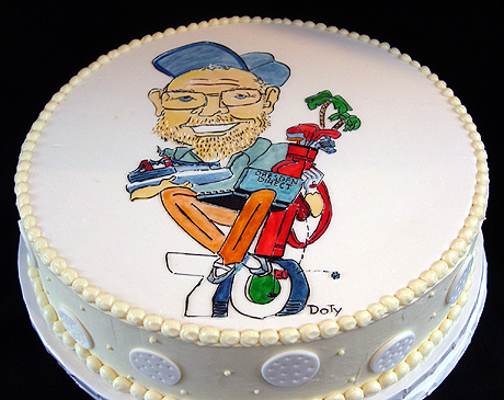 Grooms Cake with Charicature