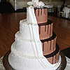 Dramatic Draped Chocolate Wedding Cake