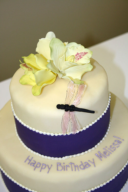 Birthday Cake with Dragonflies