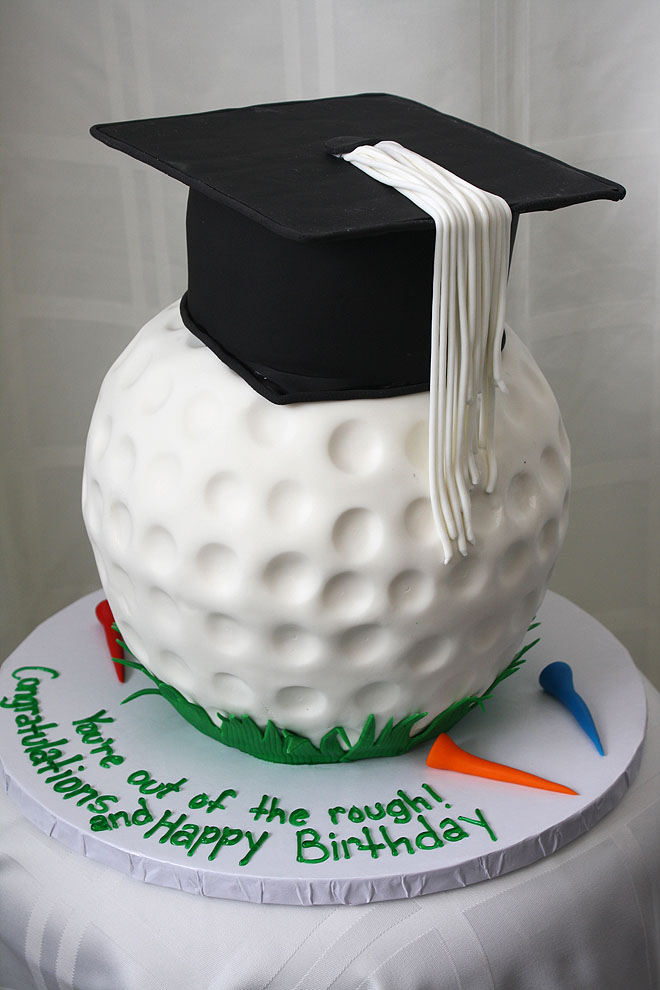 Golf Ball Graduation Cake