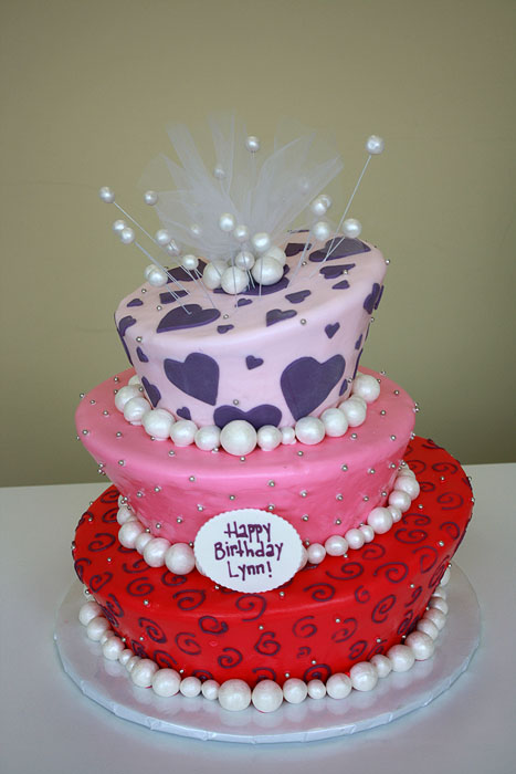 Birthday Cake with Pearls