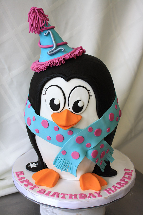Chilly Penguin Cake