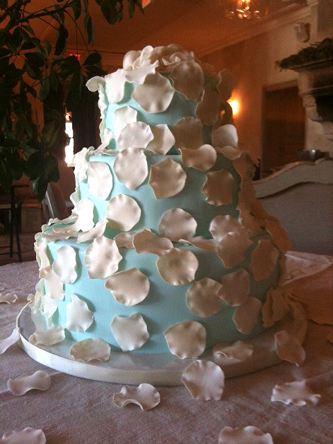 Wedding Cake with Delicate Petals