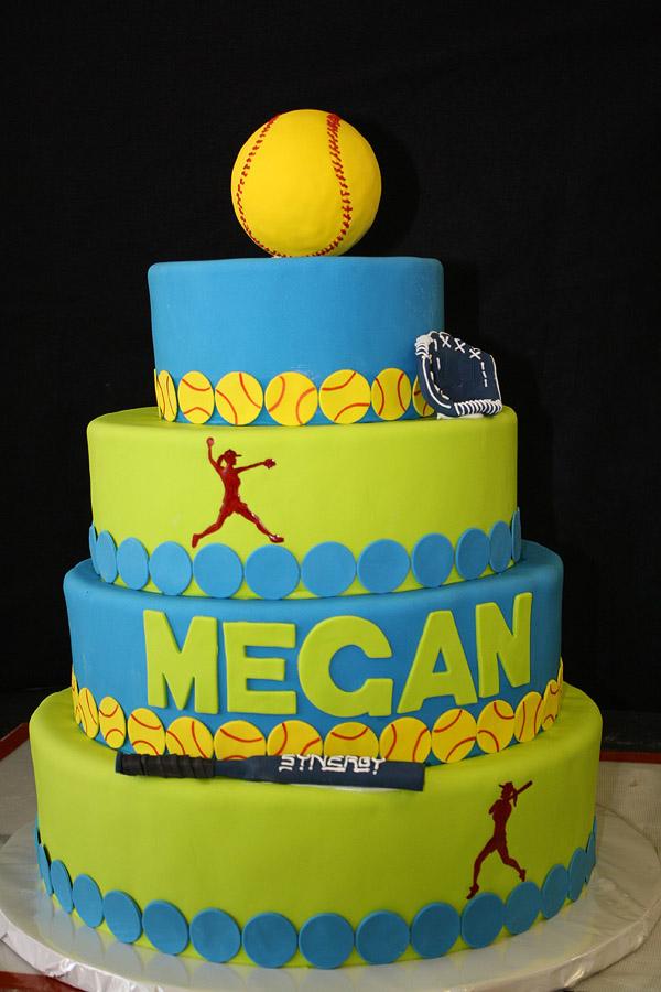 Cool Softball Cakes