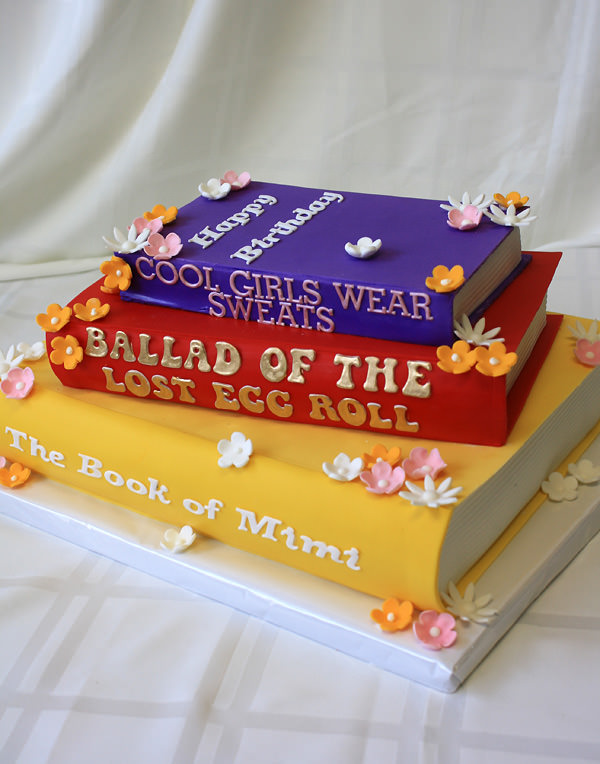 Custom Books Cake