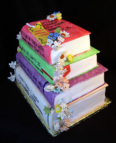 Stack of Books Cake