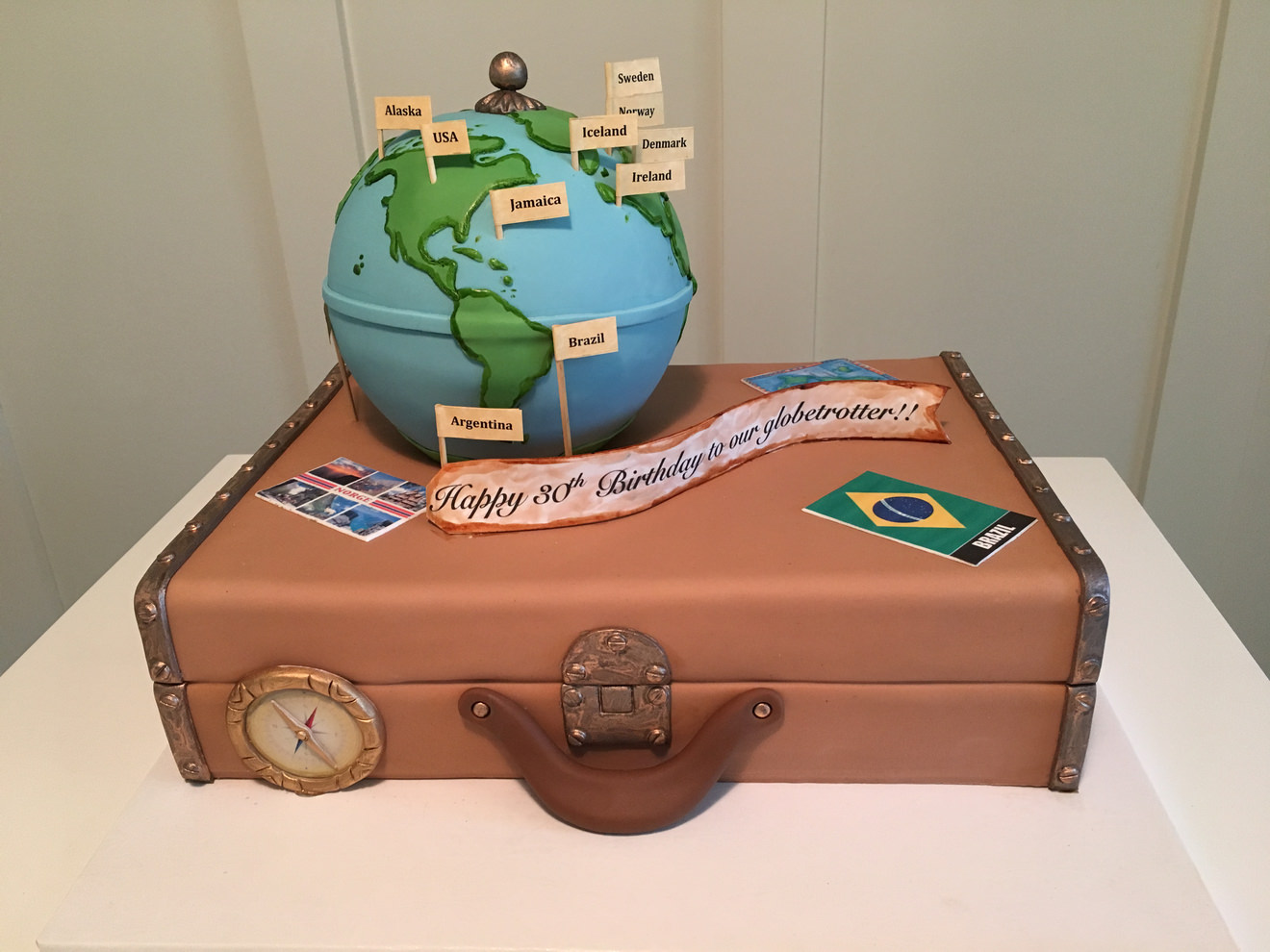 World Traveler Birthday Cake By Cakesuite Serving Connecticut And