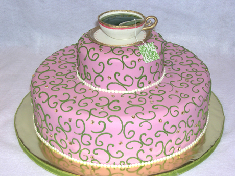 Teacup Cake for a Bridal Shower