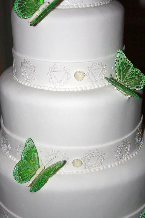 Wedding Cake with Sugar Butterflies
