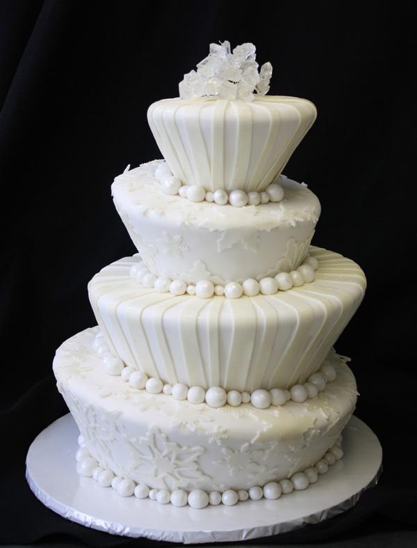 Topsy Turvy Snowflake Cake by CakeSuite, serving ...