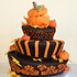 Topsy Turvey Autumn Cake
